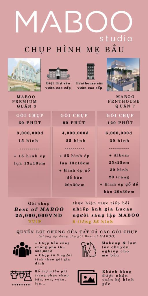 Chụp ảnh bầu tại MABOO quận 3 và quận 7