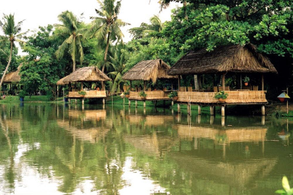 Cảnh đẹp sông nước của khu du lịch Bình Quới